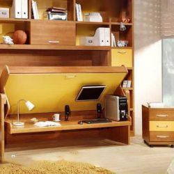Giường gấp đă năng kết hợp bàn học Mạnh Tùng
