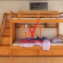 Giường tầng đa năng trẻ em 4 trong 1